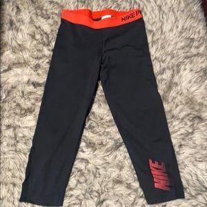 Nike Pro Capri Tights Leggings Size L